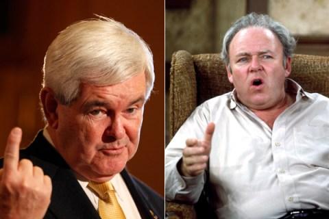 Newt Gingrich Archie Bunker