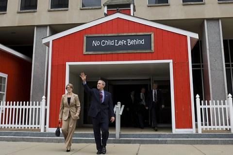 Bush Visits D.C. Elementary School