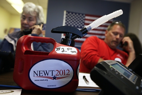 Gingrich Volunteers Work At Campaign Office Before Super Tuesday