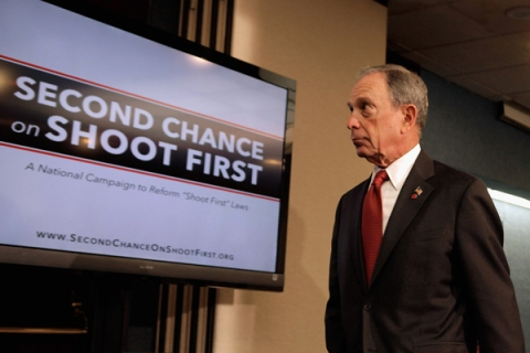 """NY Mayor Bloomberg, Advocacy Groups Call For End To """"Shoot First"""" Gun Laws"""