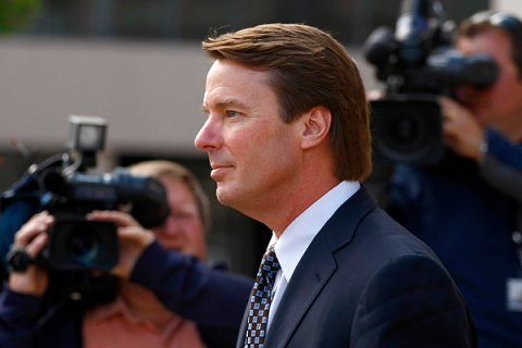 Former U.S. Senator John Edwards leaves the federal court house in Greensboro