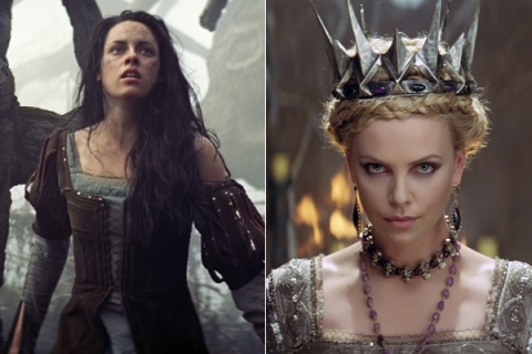 Kristen Stewart and Charlize Theron in Show White and the Huntsman.