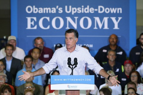 Romney Attends Victory Rally In Pennsylvania