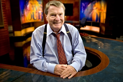 PBS news anchor Jim Lehrer