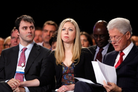 Marc Mezvinsky, Chelsea Clinton, Bill Clinton