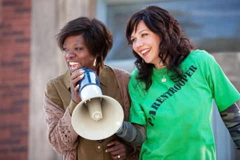 "Viola Davis, left, and Maggie Gyllenhaal star in ""Won't Back Down"""