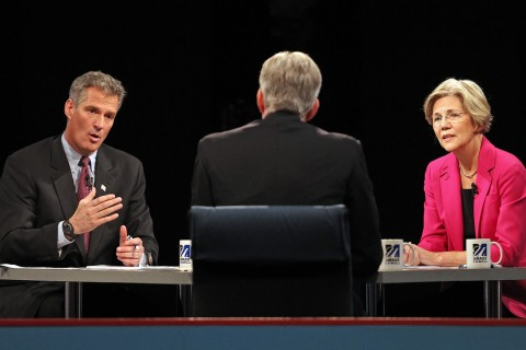 Scott Brown, Elizabeth Warren, David Gregory