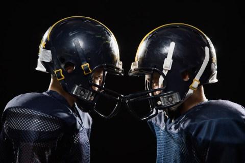 Image: Boys in football uniforms