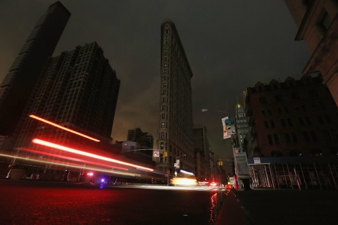 Image: Blackout in New York City following Hurricane Sandy
