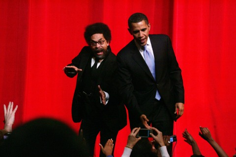 Image: Cornel West and President Obama