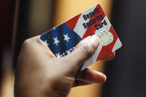 Image: Food stamps card