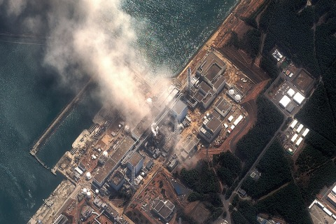 Image: The Fukushima Dai-ichi Nuclear Power plant after a massive earthquake and subsequent tsunami on March 14, 2011 in Futaba, Japan