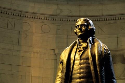 Image: The statue of Thomas Jefferson