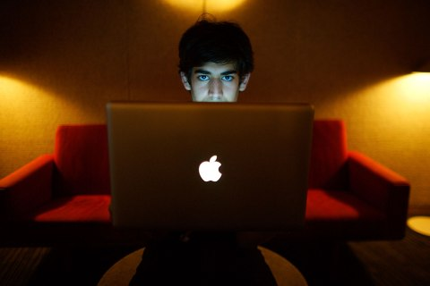 image: Aaron Swartz in Miami, Jan. 30, 2009.