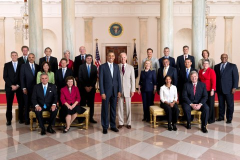 Image: Official Photo of President Obama and his Cabinet