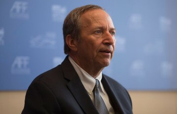 Larry Summers speaks during a news conference at the Asian Financial Forum in Hong Kong, China, Jan. 14, 2013.