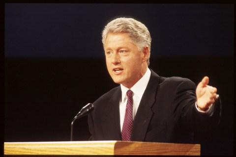 Bill Clinton And Bob Dole In TV Debate