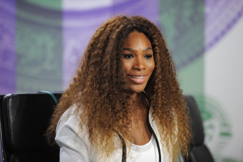 Serena Williams talks to the media during previews for Wimbledon Championships at Wimbledon on June 23, 2013 in London.
