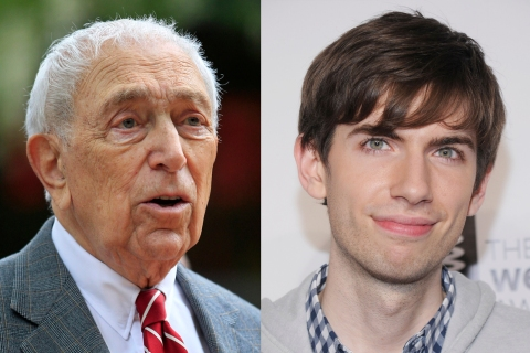 From left: Senator Frank Lautenberg and David Karp.