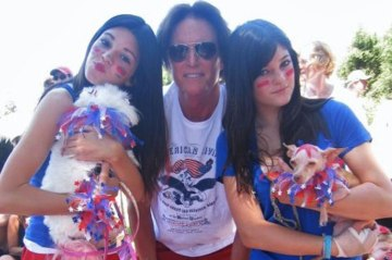 Bruce Jenner with his daughters, Kendall and Kylie.