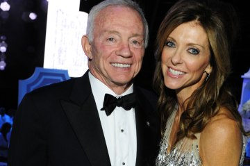 Jerry Jones with his daughter, Charlotte.