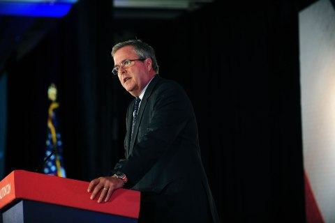Jeb Bush speaks during the Faith and Freedom Coalition Road to Majority Conference in Washington