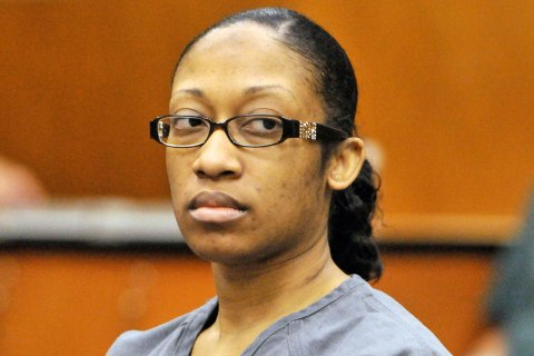 Marissa Alexander in a Duval County courtroom in Jacksonville, Fla., on May 3, 2012.
