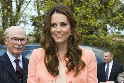 Catherine, The Duchess Of Cambridge during a visit to Naomi House Children's Hospice on April 29, 2013 near Winchester, Hampshire, England.