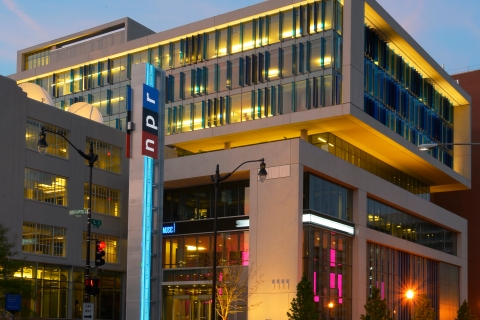 National Public Radio's new headquarters on North Capital Street in Washington D.C., on June 20, 2013. (Photo by