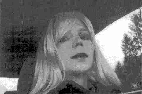 U.S. Army Private First Class Bradley Manning dressed as a woman in 2010.