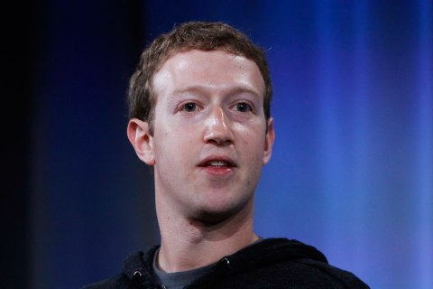 Mark Zuckerberg, Facebook's co-founder and chief executive during a Facebook press event in Menlo Park, California, April 4, 2013.