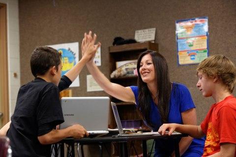 Shelby Harris, a seventh-grade math teacher at Kuna Middle School, Idaho, from Davis Guggenheim's new documentary TEACH