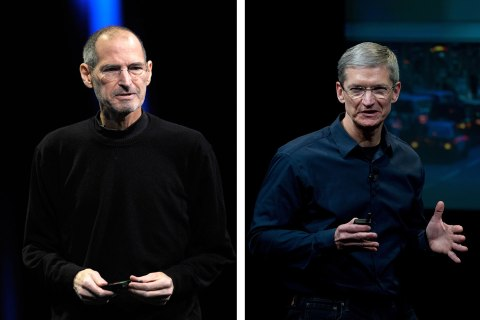 Steve Jobs & Tim Cook