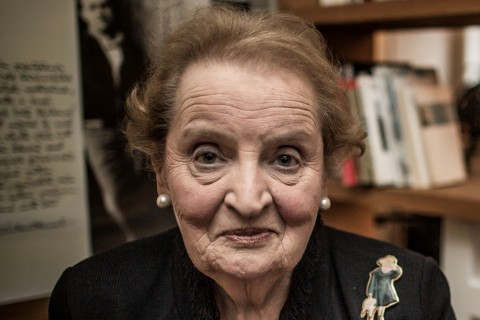 Madeleine Albright Visits Czech Republic