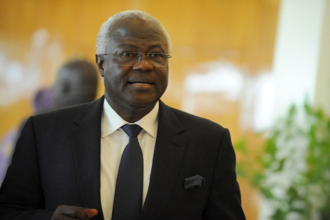 Sierra Leone's President Ernest Bai Koroma arrives at the closing session of the ECOWAS Summit in the Nigerian capital Abuja on July 18, 2013.