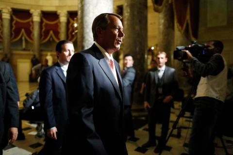 U.S. House Speaker John Boehner at the U.S. Capitol in Washington, D.C., on Sept. 30, 2013.