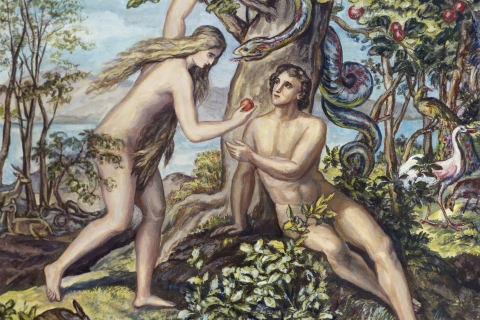 Adam, Eve, and Satan in the Garden of Eden