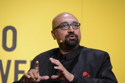 Bobby Ghosh, editor of Time International, speaks about the Middle East at Chicago Ideas Week, in Chicago, on Oct. 14, 2013.