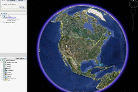 Homepage of Google Earth, 2013