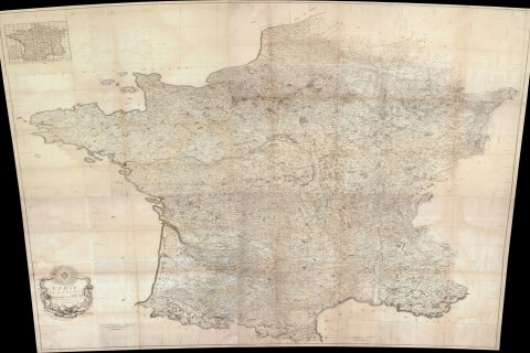 Louise Capitaine, Map of France, 1790