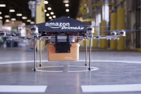 A remote aerial vehicle called Prime Air that Amazon hopes to develop to deliver goods to customers.