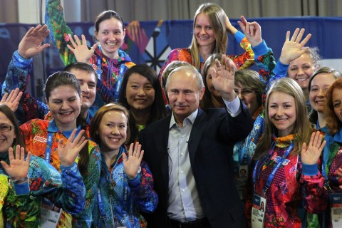 Vladimir Putin Visits Sochi Ahead Of Winter Olympics 2014