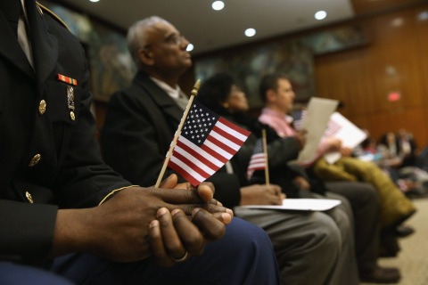 A naturalization ceremony on Feb.14, 2014 in the Brooklyn, N.Y.