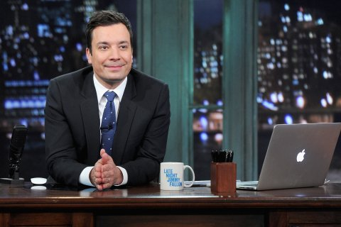 "Jimmy Fallon hosts ""Late Night With Jimmy Fallon"" at Rockefeller Center on January 28, 2014 in New York City."